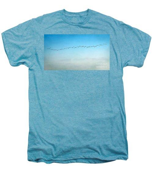 Pelican Flight Line Men's Premium T-Shirt by Peggy Hughes