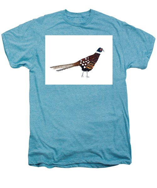 Pheasant Men's Premium T-Shirt by Isobel Barber