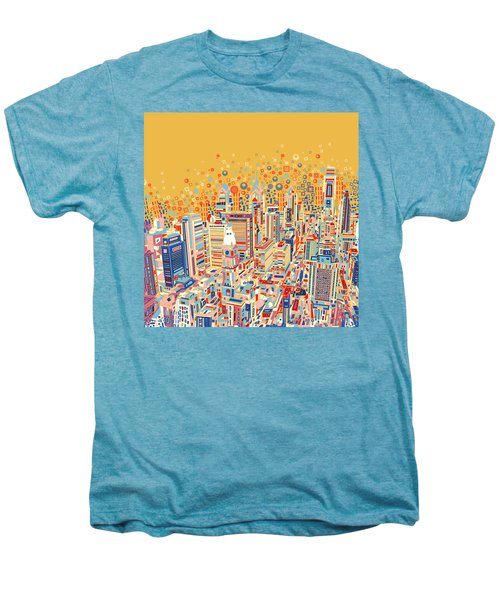 Philadelphia Panorama Pop Art Men's Premium T-Shirt