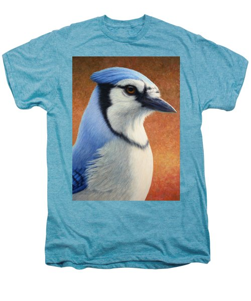 Portrait Of A Bluejay Men's Premium T-Shirt by James W Johnson