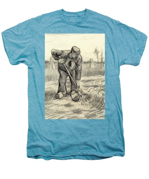 Potato Gatherer Men's Premium T-Shirt by Vincent Van Gogh