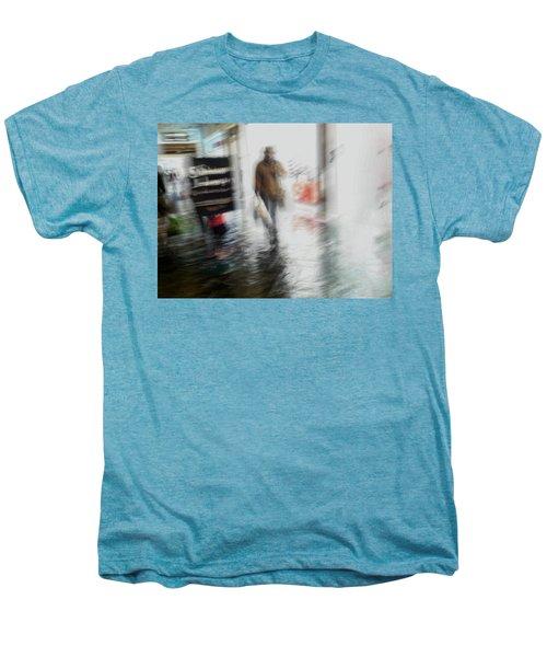 Men's Premium T-Shirt featuring the photograph Pounding The Pavement by Alex Lapidus
