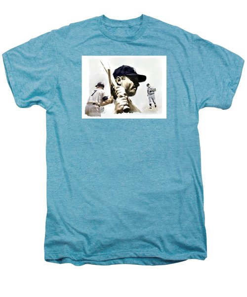 Quality Of Greatness Mickey Mantle Men's Premium T-Shirt by Iconic Images Art Gallery David Pucciarelli