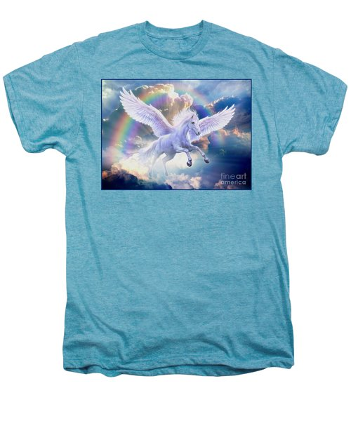 Rainbow Pegasus Men's Premium T-Shirt