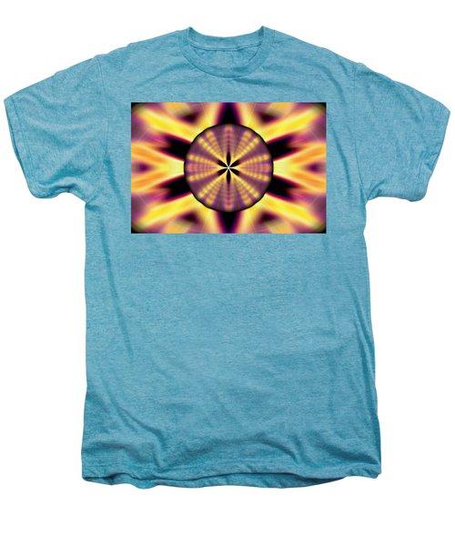 Rainbow Seed Of Life Men's Premium T-Shirt by Derek Gedney