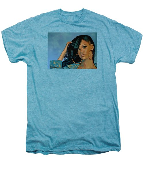 Rihanna Painting Men's Premium T-Shirt by Paul Meijering