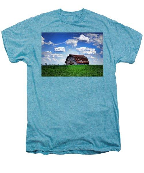 Riverbottom Barn Against The Sky Men's Premium T-Shirt