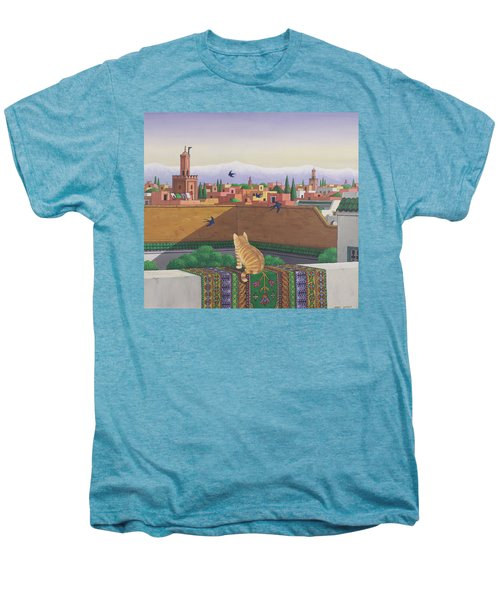 Rooftops In Marrakesh Men's Premium T-Shirt by Larry Smart