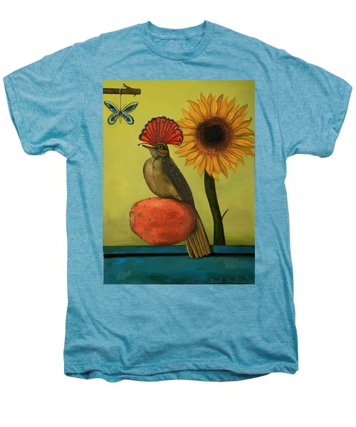 Royal Flycatcher  Men's Premium T-Shirt by Leah Saulnier The Painting Maniac