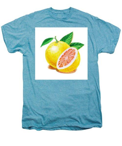 Ruby Red Grapefruit Men's Premium T-Shirt by Irina Sztukowski