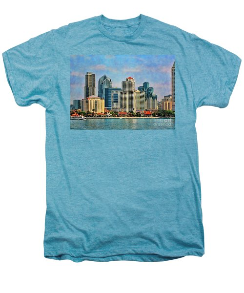 San Diego Skyline Men's Premium T-Shirt by Peggy Hughes
