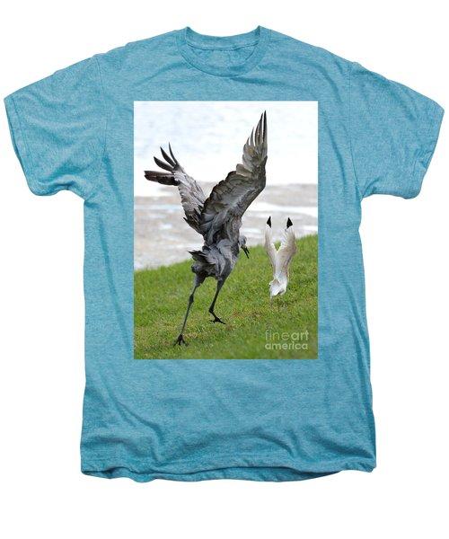 Sandhill Chasing Ibis Men's Premium T-Shirt by Carol Groenen