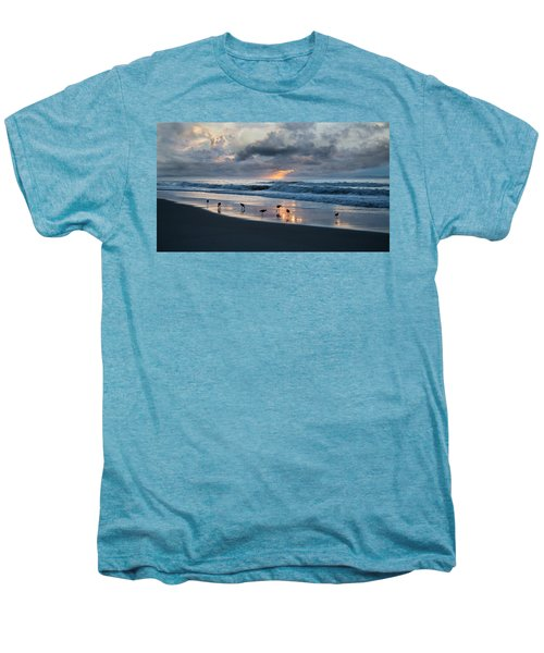 Sandpipers In Paradise Men's Premium T-Shirt by Betsy Knapp