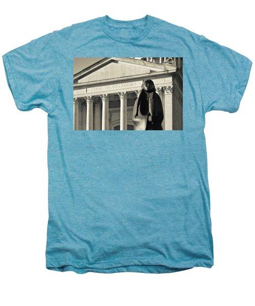 Sculpture Of Native American Men's Premium T-Shirt