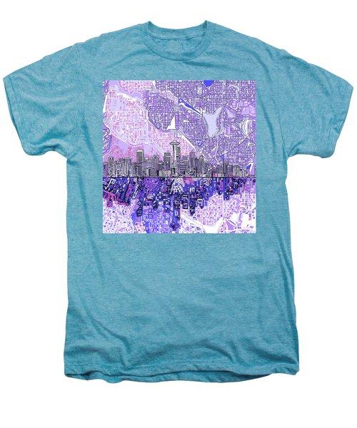 Seattle Skyline Abstract 3 Men's Premium T-Shirt