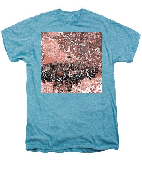 Seattle Skyline Abstract 5 Men's Premium T-Shirt