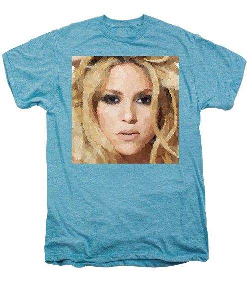 Shakira Portrait Men's Premium T-Shirt by Samuel Majcen