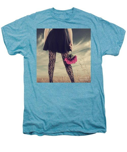 Men's Premium T-Shirt featuring the digital art She's Got Legs by Linda Lees