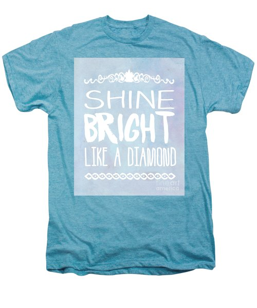 Shine Bright Blue Men's Premium T-Shirt by Pati Photography