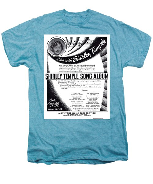 Shirley Temple Song Album Men's Premium T-Shirt by Mel Thompson