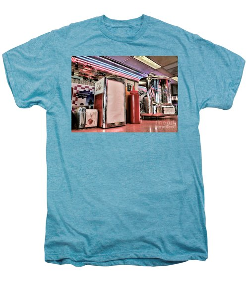 Sitting At The Counter Men's Premium T-Shirt by Peggy Hughes
