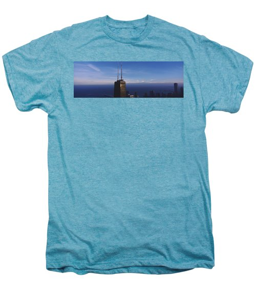 Skyscrapers In A City, Hancock Men's Premium T-Shirt