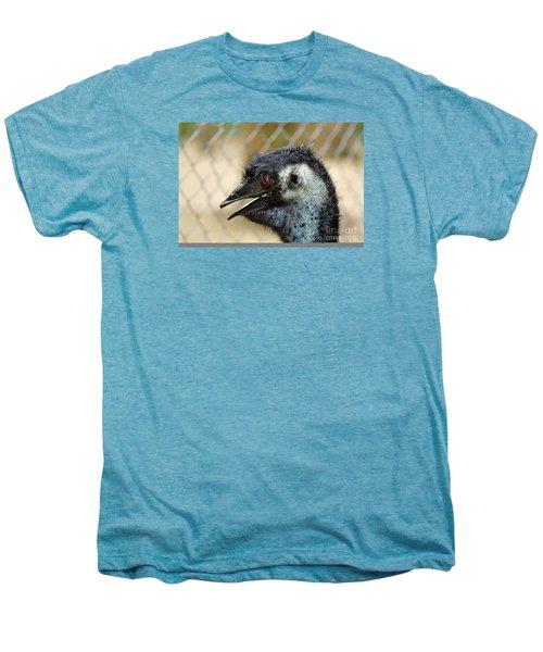 Smiley Face Emu Men's Premium T-Shirt by Kaye Menner