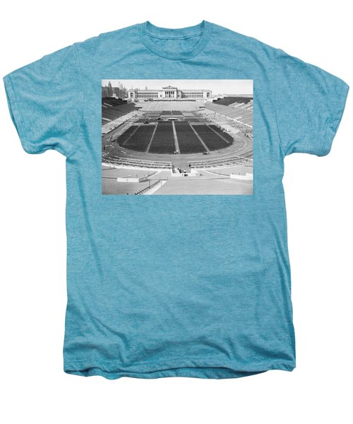 Soldier's Field Boxing Match Men's Premium T-Shirt by Underwood Archives