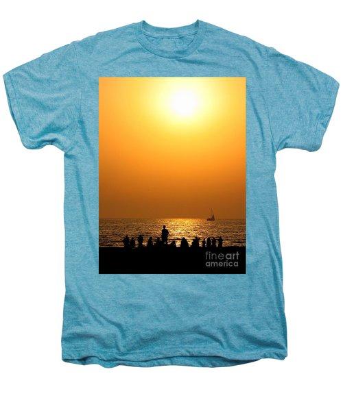 St. Petersburg Sunset Men's Premium T-Shirt by Peggy Hughes