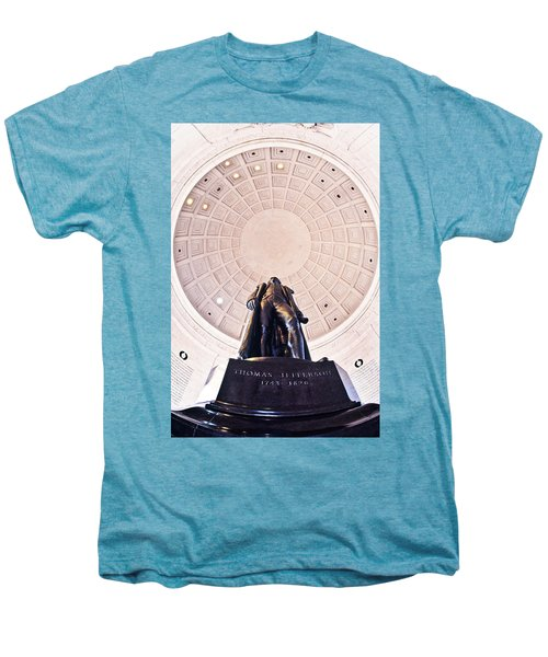 Statue Of Thomas Jefferson Men's Premium T-Shirt by Panoramic Images