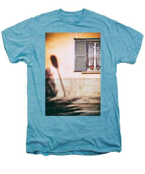 Men's Premium T-Shirt featuring the photograph Street Lamp Shadow And Window by Silvia Ganora