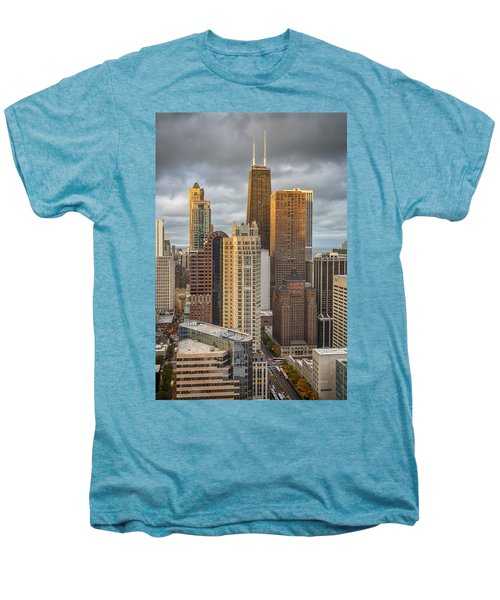 Streeterville From Above Men's Premium T-Shirt by Adam Romanowicz