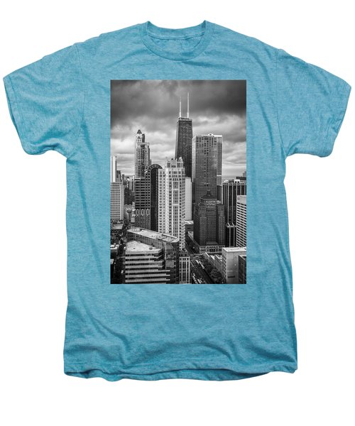 Streeterville From Above Black And White Men's Premium T-Shirt by Adam Romanowicz