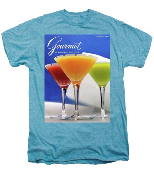 Summer Cocktails Men's Premium T-Shirt by Romulo Yanes