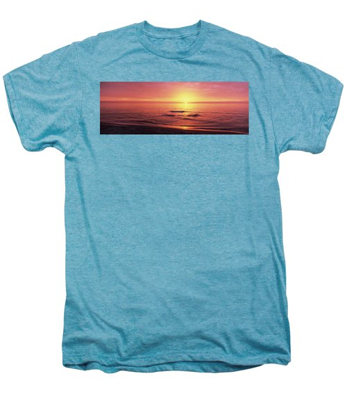 Sunset Over The Sea, Venice Beach Men's Premium T-Shirt by Panoramic Images