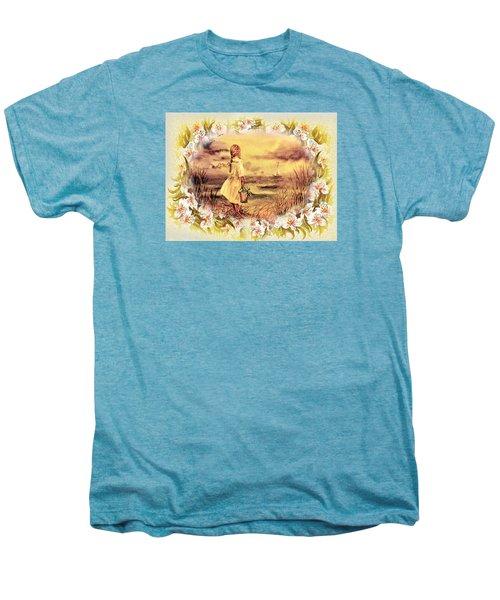 Men's Premium T-Shirt featuring the painting Sweet Memories A Trip To The Shore by Irina Sztukowski
