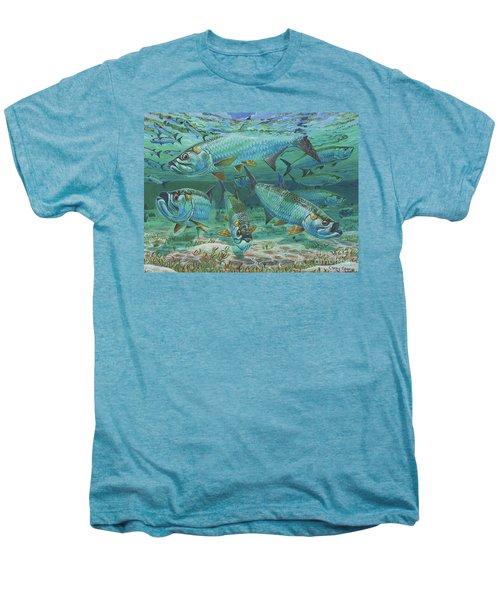 Tarpon Rolling In0025 Men's Premium T-Shirt by Carey Chen