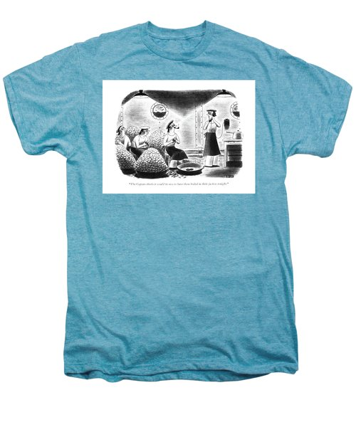 The Captain Thinks It Would Be Nice Men's Premium T-Shirt by Richard Taylor