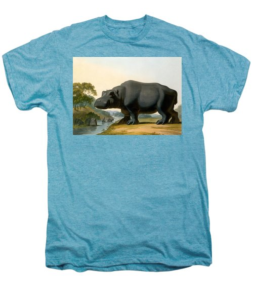 The Hippopotamus, 1804 Men's Premium T-Shirt by Samuel Daniell