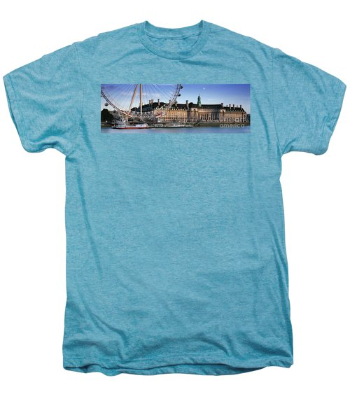The London Eye And County Hall Men's Premium T-Shirt by Rod McLean