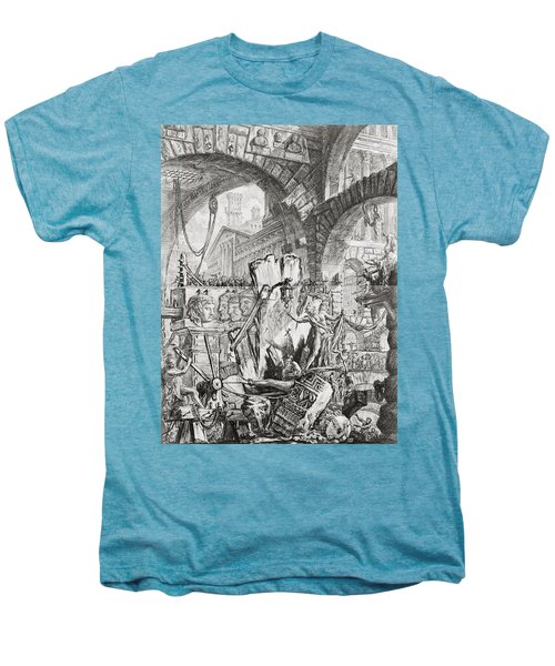 The Man On The Rack Plate II From Carceri D'invenzione Men's Premium T-Shirt
