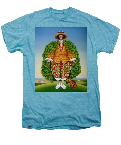 The New Vestments Ivor Cutler As Character In Edward Lear Poem, 1994 Oils And Tempera On Panel Men's Premium T-Shirt