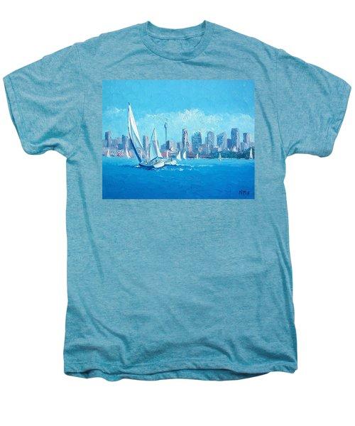 The Regatta Sydney Habour By Jan Matson Men's Premium T-Shirt