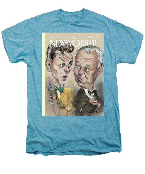 The Young Frank Sinatra Looking At The Old Frank Men's Premium T-Shirt