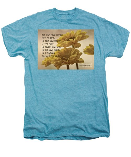 Thoughts Of Gratitude Men's Premium T-Shirt by Peggy Hughes