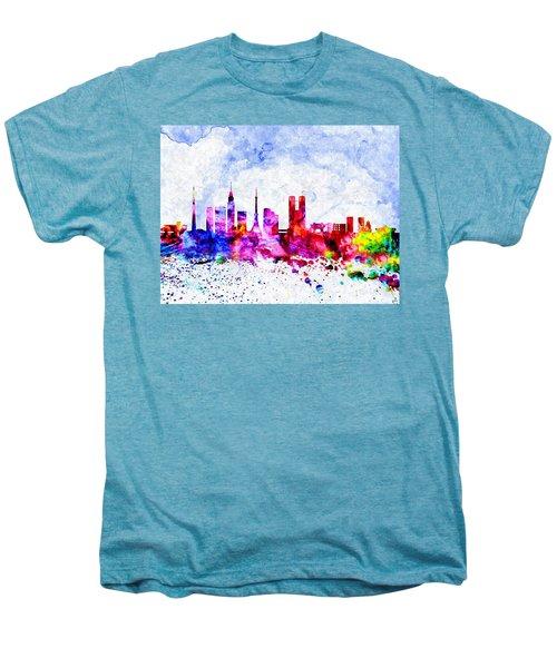 Tokyo Watercolor Men's Premium T-Shirt by Daniel Janda