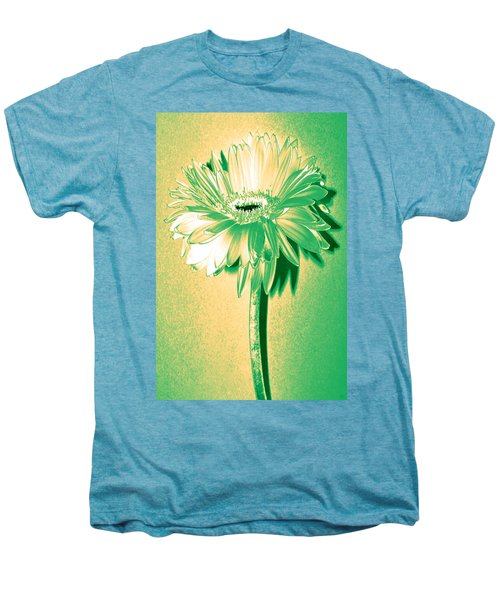 Touch Of Turquoise Zinnia Men's Premium T-Shirt by Sherry Allen