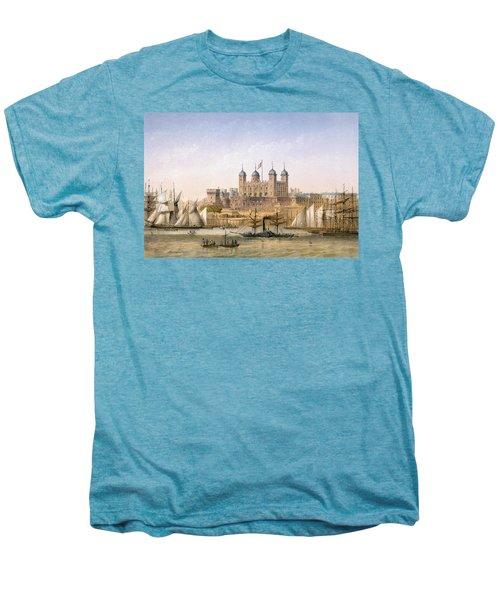 Tower Of London, 1862 Men's Premium T-Shirt by Achille-Louis Martinet