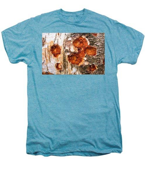 Tree Trunk Closeup - Wooden Structure Men's Premium T-Shirt by Matthias Hauser