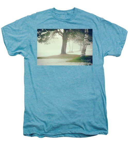 Men's Premium T-Shirt featuring the photograph Trees In Fog by Silvia Ganora